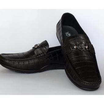 Giày mọi da bò vân cá sau đen   GIÀY VO_DMM17.545
