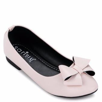 Giày búp bê nơ Sarisiu SRS830 (Hồng)