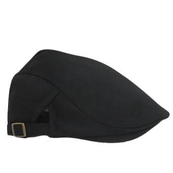 Beret Peaked Cap Black