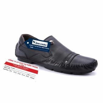 Giày lười nam Da Thật Cao cấp chính hãng Giày Da Miền Trung chính hãng VCTS8LZD99-1D-1 (đen )