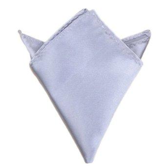 Fancyqube Multicolor Men Wedding Solid Pocket Square Handkerchief Hanky Accessory Light Grey - Intl