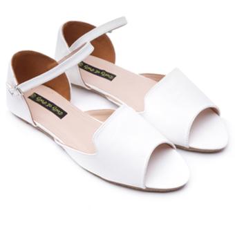 Sandal moka Dolly & Polly DL1001 (Trắng)