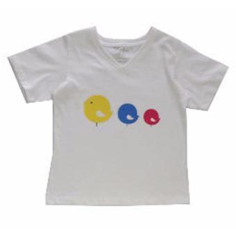 Áo Tshirt In Ba Con Gà Genii Kids (Trắng)