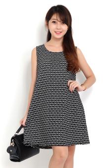 Đầm overSize hình đôi môi 3D Cirino (Đen)