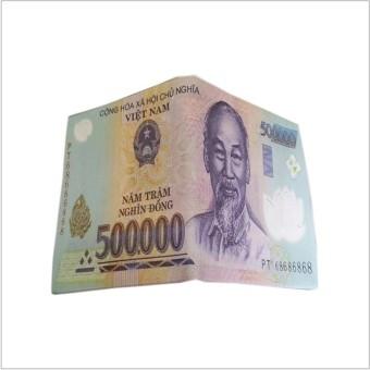Ví da cao cấp in hình tiền 500 VND.