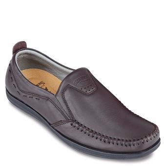 Giày mọi nam da bò SunPoLo LS3026NRN (Nâu)