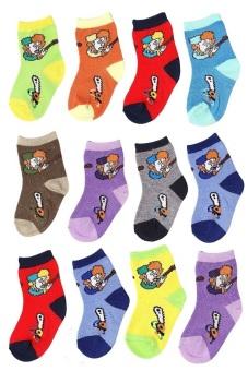 Bộ 12 đôi tất vớ trẻ em Từ 1-3 tuổi bé trai SoYoung 12SOCKS 002 1T4 BOY