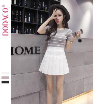 Chân Váy Ngắn Hàn Quốc Thời Trang DODACO DDC1875 TR VNU S - XXL 18401 (Trắng)
