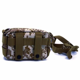 Molle Tactical Storage Bag Cross Body Messenger Tote Bag Shoulder Satchel Army Gear Leisure Flap Handy Pouch Desert Digital - Intl - intl
