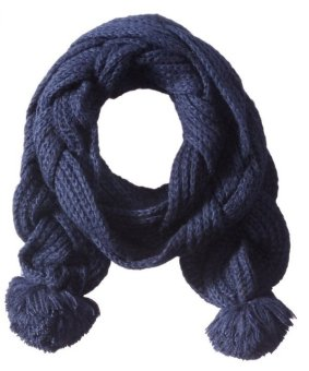 Khăn choàng len nữ Sperry Top-Sider Women's Double Braided Scarf with Poms (Mỹ)