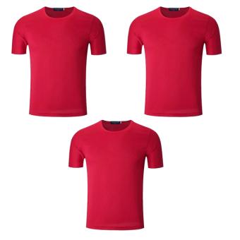 Bộ 3 áo thun nam micro mesh ZANI ZMA81824NR – Màu đỏ