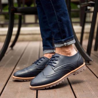Giày casual nam Rozalo RMG3280XD-Xanh Đen