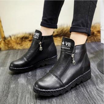 Giày Boot nữ cổ ngắn – XS0231 (Đen).