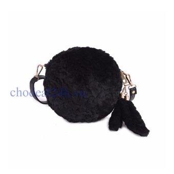 Túi xách Lông Thú Đuôi Hồ Ly chodeal24h.vn - đen