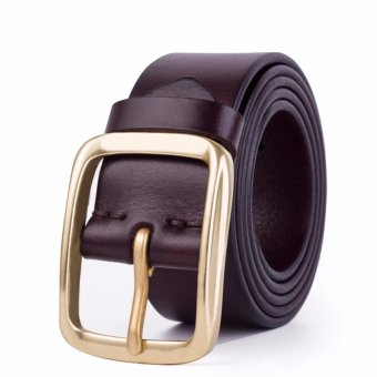 Dây lưng nam da bò Ý cao cấp nhập khẩu ROT001 (Cà phê) - 3701229