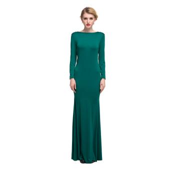 Women Cocktail Party Dress Green (Intl)