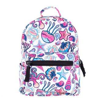 Child Print Rucksack Mini Backpack School Bag Book Shoulder Bag Pink - intl