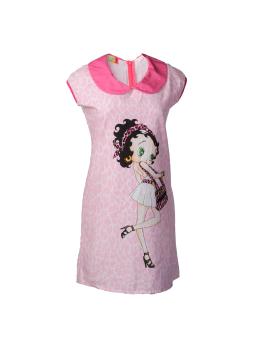 Đầm Nữ Suông Cổ Bèo Cotton Tri Lan D013 (Hồng)
