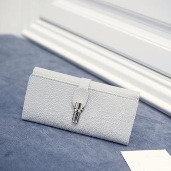 Women Lock Buckle Coin Purse Long Wallet Card Holders Handbag - intl