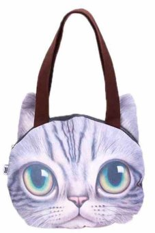 LALANG Women's Big Eyes Pussy Cat Shoulder Bag (Multicolor)