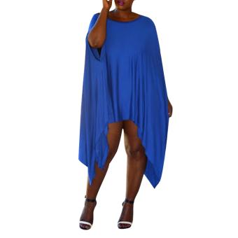 Women Batwing Sleeve Loose cloak Irregular Evening Party Dress - intl