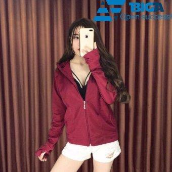 Áo khoác chống nắng tia UV Korea Store UVF1 màu Đỏ (Cam kết dày dặn, vải mát) US04572