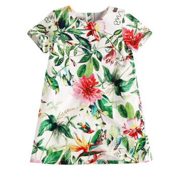 New Girls Lotus Flower Dress - intl