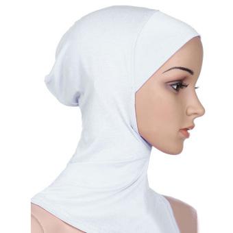 Women Muslim Modal Soft Flexible Head Neck Wrap Cover Inner Hijab Cap Hat White (Intl)