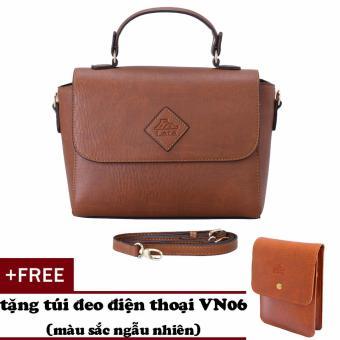 Túi đeo chéo nữ đa năng LATA HN35 (Bò đậm)+ Tặng ví vn06