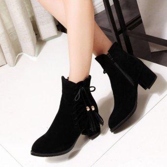 Giày boot nữ cổ ngắn sành điệu 6cm GBN14801