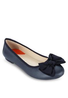 Giày Búp Bê Nơ Vải Lớn SCALA
