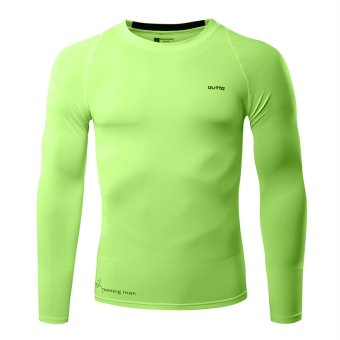 Long-Sleeved Quick-Drying Breathable Sports T-shirt (Green) - Intl