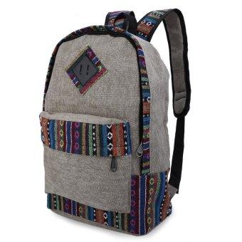 Women Ethnic Canvas Backpack (Gray) - Intl