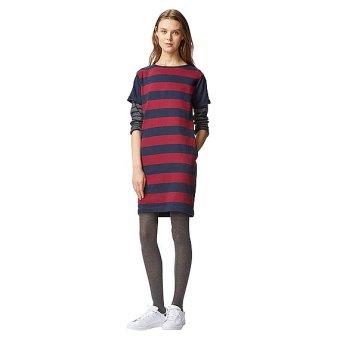 Đầm sọc kẻ đỏ Uniqlo