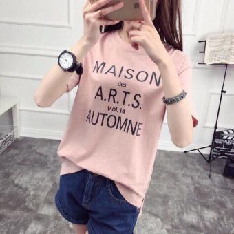 ÁO THUN NỮ form rộng MAISON cực chất màu hồng HN134
