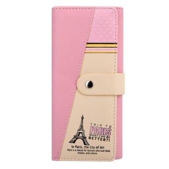 Women PU Leather Wallet Pink - intl
