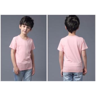 Áo thun bé trai trơn cao cấp LyLyFashion (hồng)