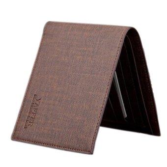 Slim Men Leather Bifold Wallet Purse Coffee