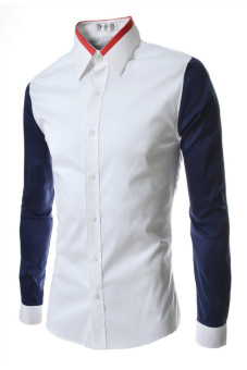 Reverieuomo CS33 Single-Breasted Shirt (White) - Intl