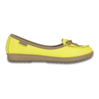 Giày búp bê nữ Crocs Wrap ColorLite Ballet Flat Sunshine Tumble (Vàng)