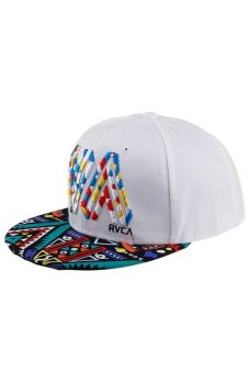 HKS Men Women Snapback Baseball Cap Adjustable Hip-Hop Flat Outdoor Sport Summer Hat White - Intl - intl