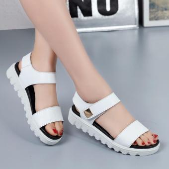 Giày Sandal nữ phong cách Hàn Quốc S050T (trắng)