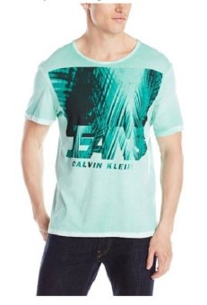 Áo thun cổ tròn logo CK nam Calvin Klein Jeans Men's Shadow Palms Crew Neck Tee (Mỹ)