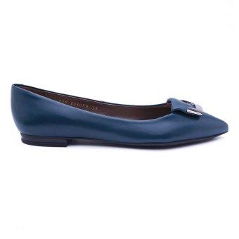 Giày Búp Bê Da Geox D Rhosyn B (Xanh Biển)