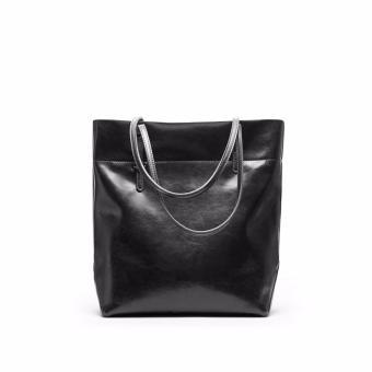 Túi xách nữ da thật cao cấp phong cách Châu Âu QSL072L dáng dọc (Đen) - 3697076