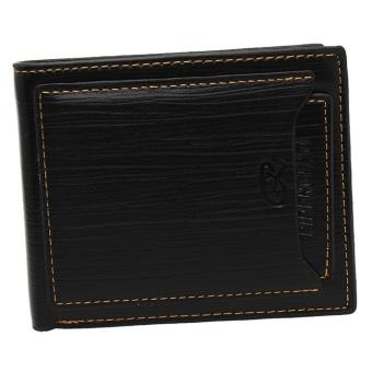 LALANG Bifold Wallet Clutch Black - intl
