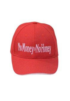 Nón Lưỡi trai vải trơn với logo No Money - No Honey Juliecaps (Đỏ)