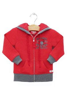 Áo khoác dây kéo in hình trái banh Kavio Kids (Đỏ)