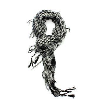 Lightweight Tactical Scarf (Black and White)