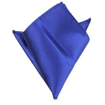 Fancyqube Multicolor Men Wedding Solid Pocket Square Handkerchief Hanky Accessory Blue - Intl